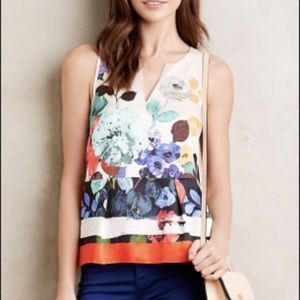 Anthropologie HD in Paris Elsie Floral Tank Size 4